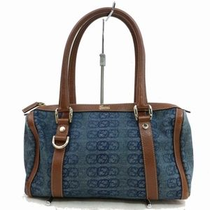 Denim Interlocking Logo Abbey Boston Joy 870742